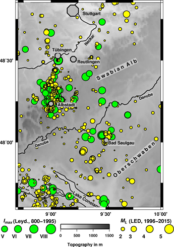 Historic seismicity in the Molasse Basin / Oberschwaben
