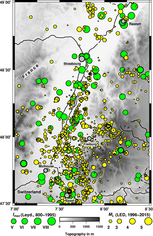 Historic seismicity in the Upper Rhine Graben